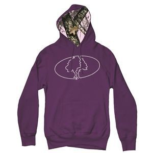 MOSSY-OAK-PURPLE-BLING-LADIES-HOODIE-SWEATSHIRT-RHINESTONE-LOGO