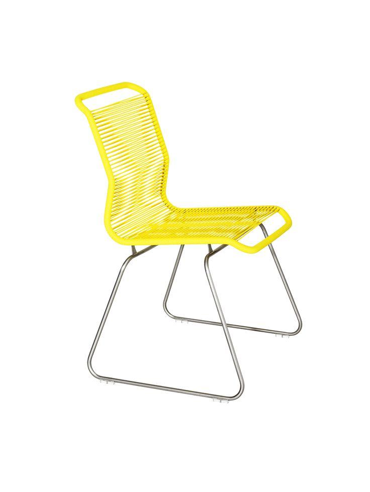 The Panton One chair in Tokyo Yellow. #montana #furniture #panton #pantonone #tivoli #stol #stackable #yellow #danish #design #verner #panton