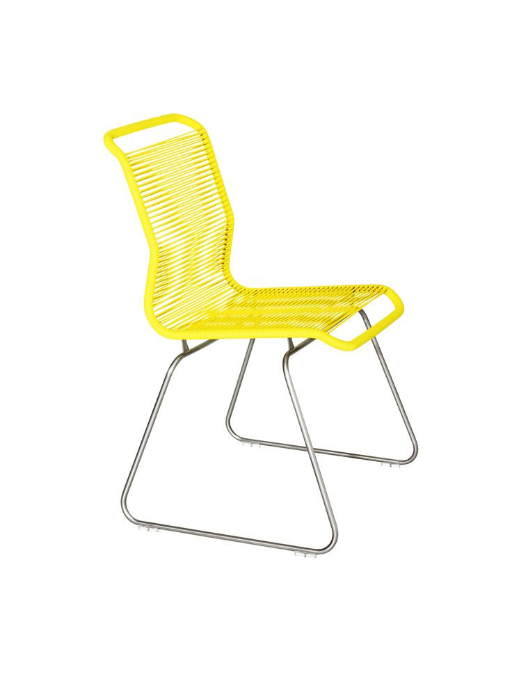 The Panton One chair in Tokyo Yellow. #montana #furniture #panton #pantonone #tivoli #stol #stackable #yellow #danish #design #verner #panton