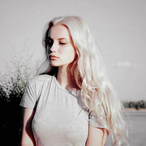 platinum blonde   sunlight   vintage   long hair   white   model   portrait