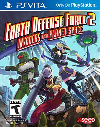 """Earth Defense Force 2: Invaders from Planet Space is an expanded remake of the second entry in the acclaimed action series. Players take on the role of a """"Ranger"""" military soldier armed with conventional weaponry, a """"Pale Wing"""" special ops soldier equipped with a jetpack and armed with energy weapons, or new to this version, an """"Air Raider,"""" who fights indirectly through the strategic placement and dispatch of trip mines, sentry guns, air strikes and more. Players must fend off the invaders…"""