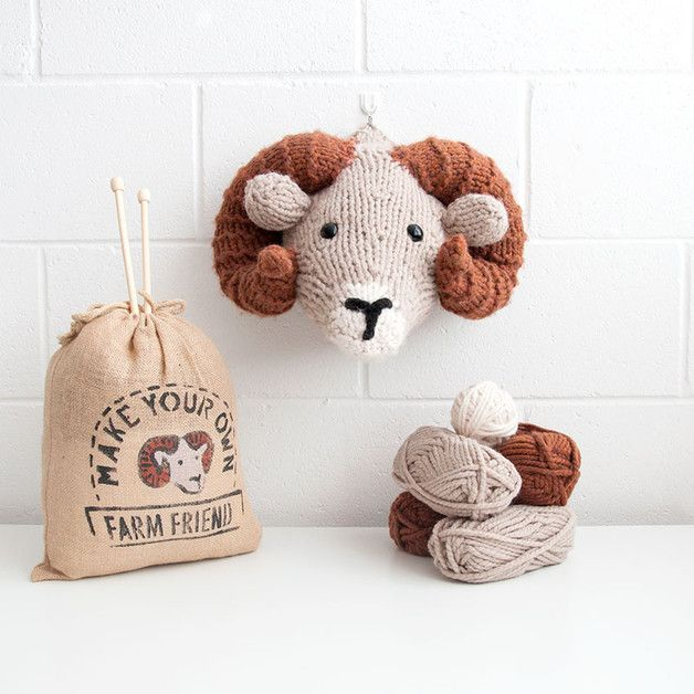 Handcraft Kits – Make Your Own Ram Head - DIY Knitting Kit – a unique product by Sincerelylouise on DaWanda