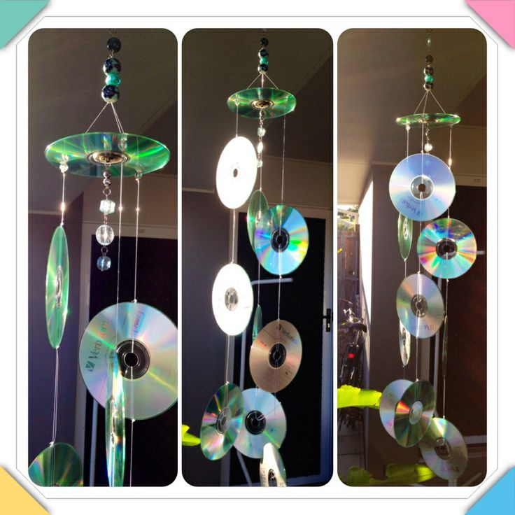 Cd sun catcher to keep birds off your patio. - 25 Best Images About Best From Waste On Pinterest Quilling, Wood