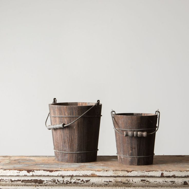 Rustic Wooden Water Pail
