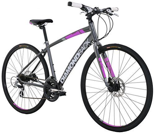 Diamondback Bicycles Women's 2016 Clarity 2 Complete Performance Hybrid Bike, 16 Inch Frame 16 Grey/Pink - http://www.bicyclestoredirect.com/diamondback-bicycles-womens-2016-clarity-2-complete-performance-hybrid-bike-16-inch-frame-16-greypink/