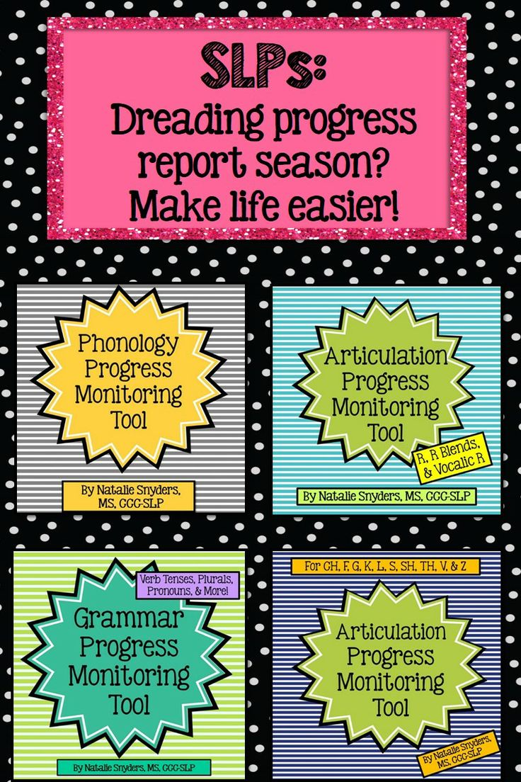 SLPs - Are you dreading progress report season?  Make life easier with this line of progress monitoring tools - only takes 2-10 minutes to administer per student.