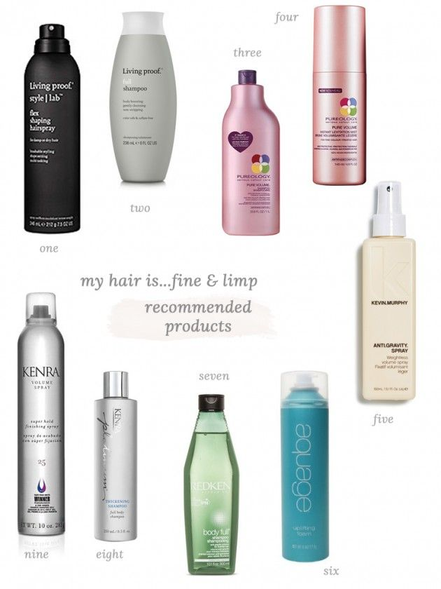 My Hair Is . . . Fine + Limp - recommended products!