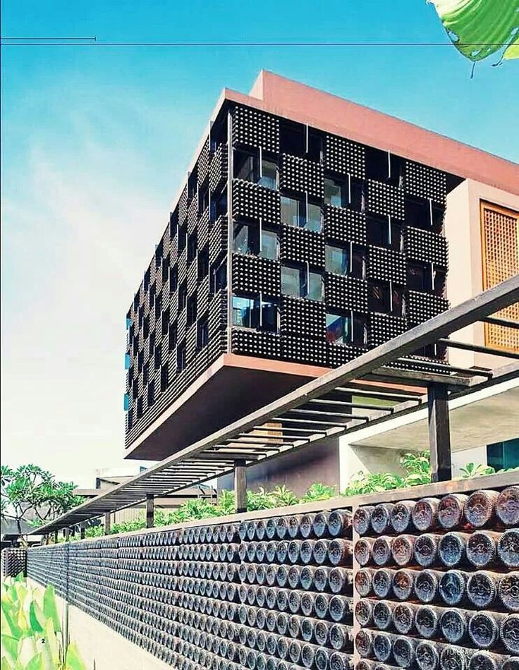 Bottle house in bandung Indonesia . By arts & interior design