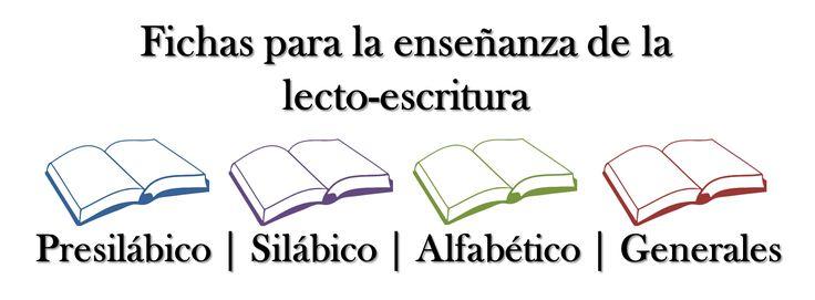 Fichas para la enseñanza de la lecto-escritura ~ Descarga recursos Didácticos Digitales para todos los grados