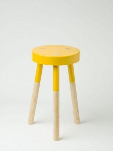 Yellow 'Y' Stool by Tim Webber - Douglas + Bec