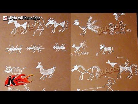 Warli Animal and Bird Paintings - JK Arts 558 - YouTube