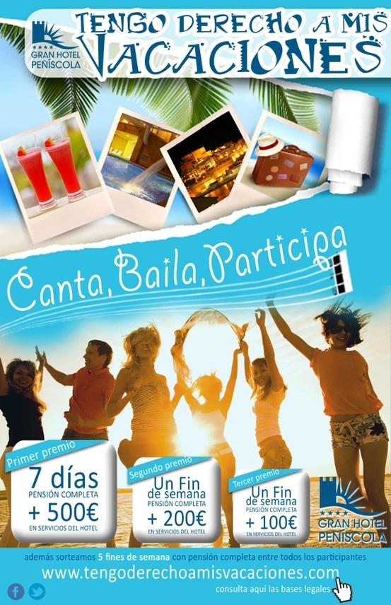 Gana unas vacaciones en Gran Hotel Peñíscola. ¡Te esperamos! https://www.facebook.com/GHPWS/app_256593927709045