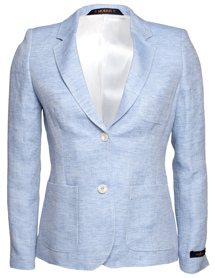 Morris Lady Linen Club Blazer Light Blue