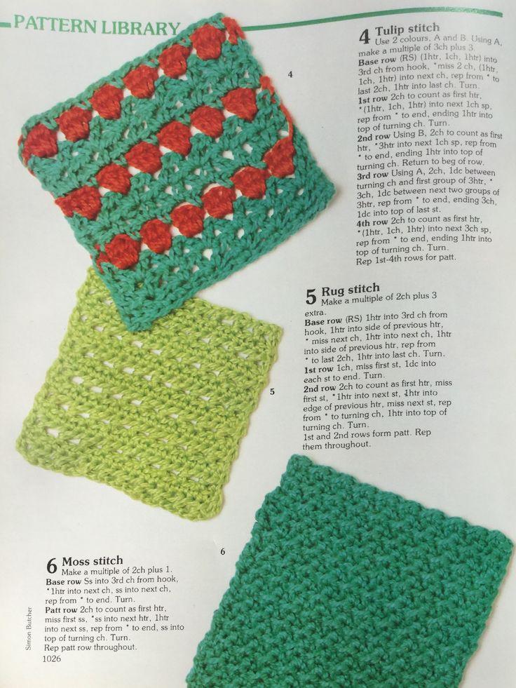 Half treble patterns.  Crochet stitch library.  Busy Needles part 37