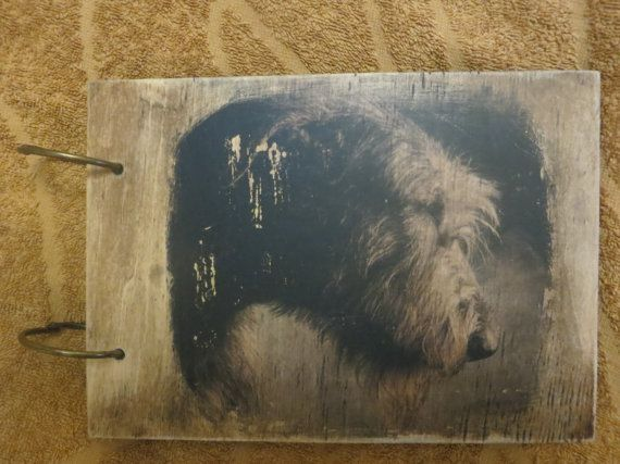 Check out this item in my Etsy shop https://www.etsy.com/listing/500909985/rustic-photo-album-your-picture-on-wood