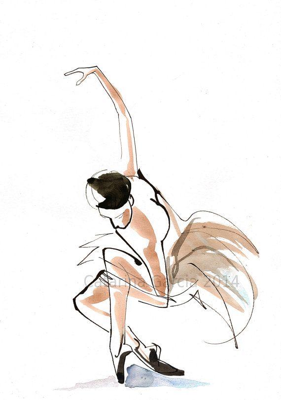 Watercolor Dance Drawing by CatarinaGarciaArtes