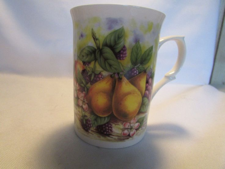 "Vintage Rose Of England Fine Bone China Tea Cup Mug Fruit and Berry England Item condition:Used ""NO DAMAGE"" Time left: Time left: 11d 04h 2/9, 4:59PM Price:US $4.99+ ship 4.00"