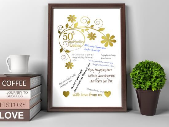 50th Anniversary Wedding Gift Ideas: Best 25+ 50th Anniversary Gifts Ideas On Pinterest