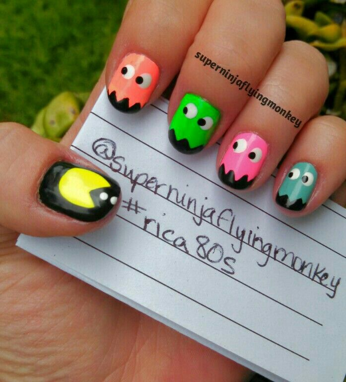 122 Nail Art Designs That You Won T Find On Google Images: 17 Best Ideas About Pac Man Nails On Pinterest