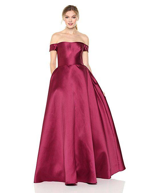 3e6fd485e3f ML Monique Lhuillier Women s Off The Shoulder Ball Gown at Amazon Women s  Clothing store