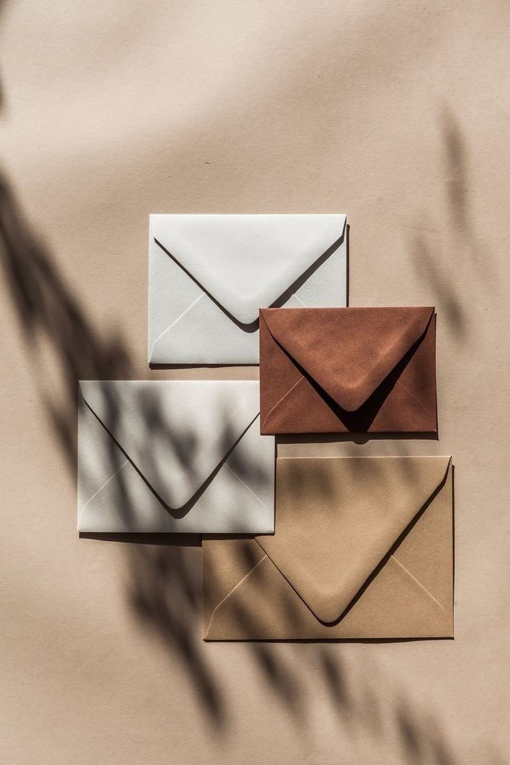 Stationery Envelopes in 2020 Brown aesthetic Aesthetic colors Cream aesthetic