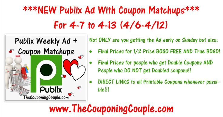 ***OK.. LET'S SEE IF WE CAN GET 500 SHARES ~ You Did an AWESOME Job last week*** ***Use the SHARE button below the Picture and then leave a comment and let us know you shared it + it keeps it bumped in the GROUP! THANKS!***Click the Picture below to get all of the details ► http://www.thecouponingcouple.com/publix-ad-with-coupon-matchups-for-4-7-to-4-13-16/ Here is the Publix Ad with Coupon Matchups for 4-7 to 4-13-16 (4/6-4/12 for those whose ad begins on Wednesdays).