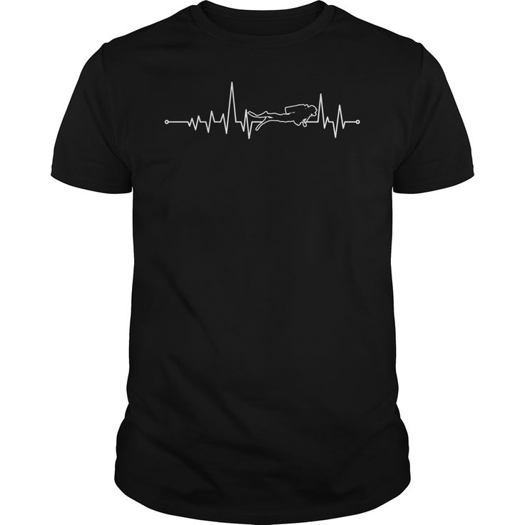 Scuba Diving Heartbeat . Cool, Clever, Funny Outdoor Quotes, Sayings, T-Shirts, Hoodies, Sweatshirts, Tees, Clothing, Coffee Mugs, Gifts.
