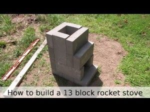 Rockets stove and diy videos on pinterest for 4 block rocket stove