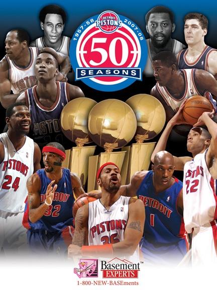 50 Seasons. Detroit Pistons.