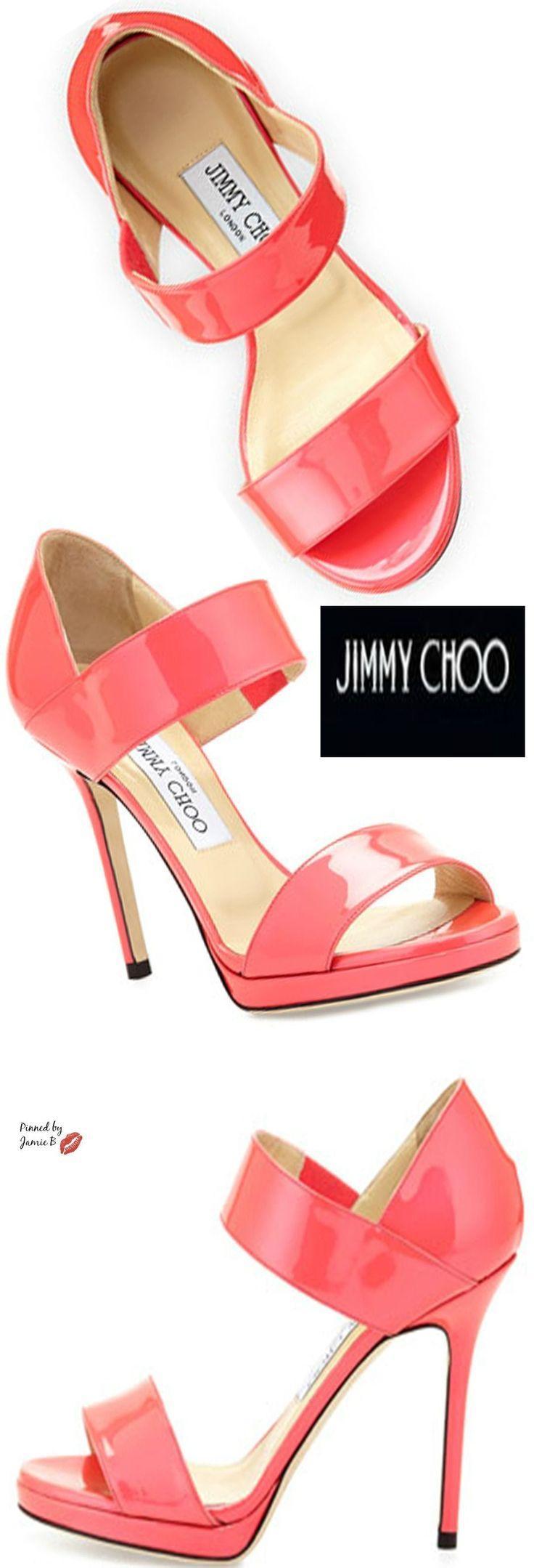 Jimmy Choo | Alana Patent Double-Band Sandal | Jamie B #jimmychooflats #jimmychooheelsstrappy