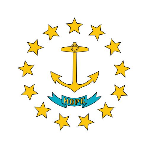 design on RI state flag