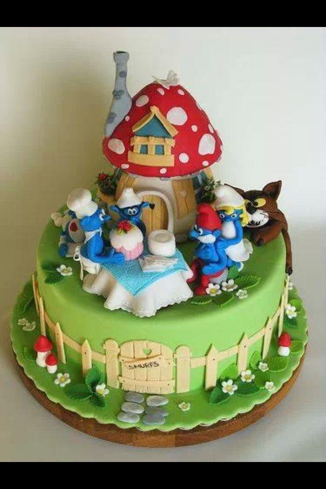Smurf Birthday Cakes Images