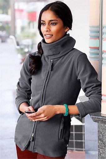 Women's Cardigans - Urban Fleece Zip Through Jacket - EziBuy Australia