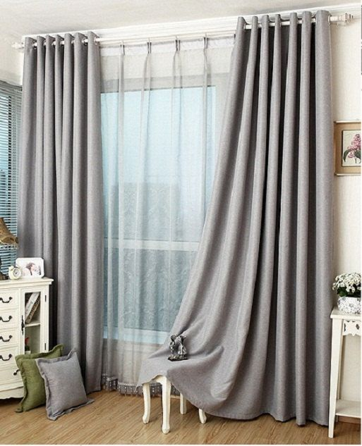 slate gray blackout curtain insulation curtain custom curtains all size on etsy - Bedroom Curtain Colors