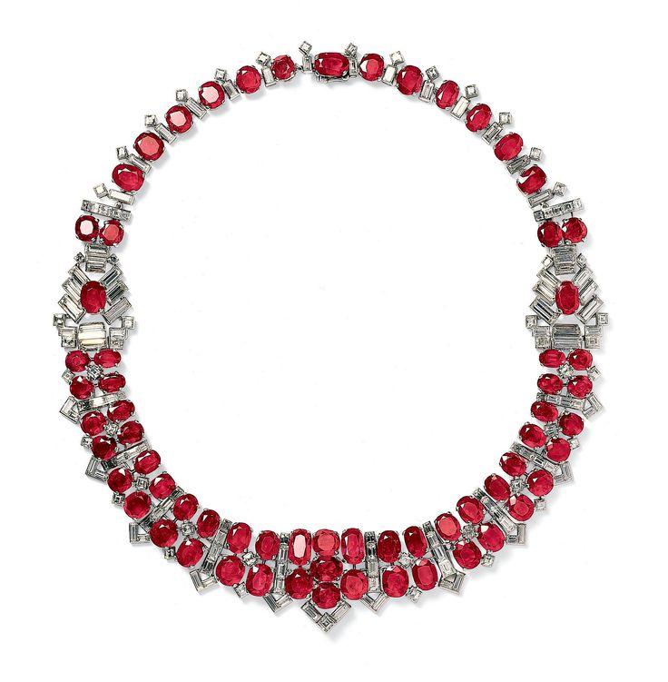 Cartier. Ruby & diamond necklace...♡