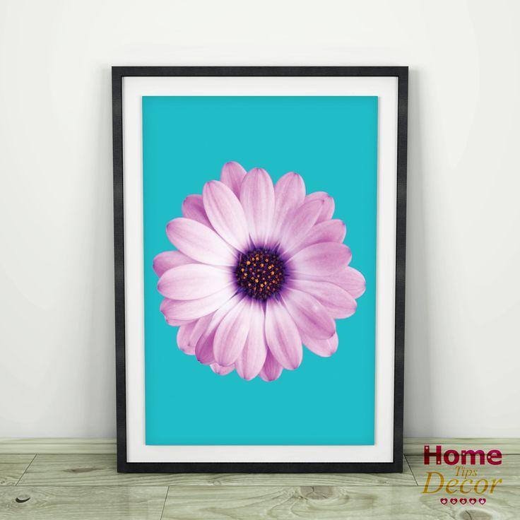 Daisy Flower Wall Art, Daisy Photography, Flower Poster, Home Decor, Gypsy Boho Wall Art, Pink Daisy Wall Art, Pop Art Poster, Gypsy Artwork by HomeDecorTips on Etsy