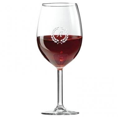 Cadeau malin: Verre à vin personnalisé initiale