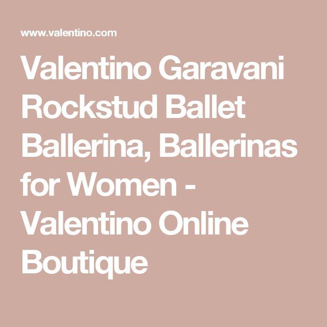 Valentino Garavani Rockstud Ballet Ballerina, Ballerinas for Women - Valentino Online Boutique