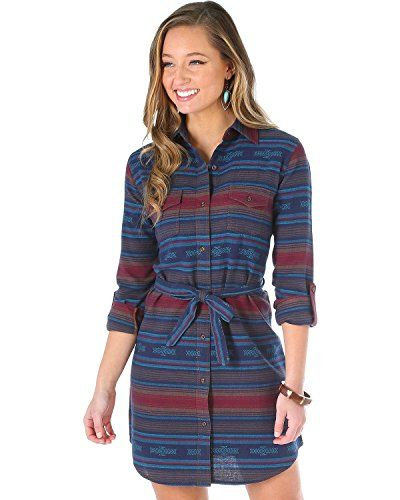 New Wrangler Women's Aztec Flannel Shirt Dress - Lwd821m online. Perfect on the Red Dot Boutique Dresses from top store. Sku yfix36600bduu51077