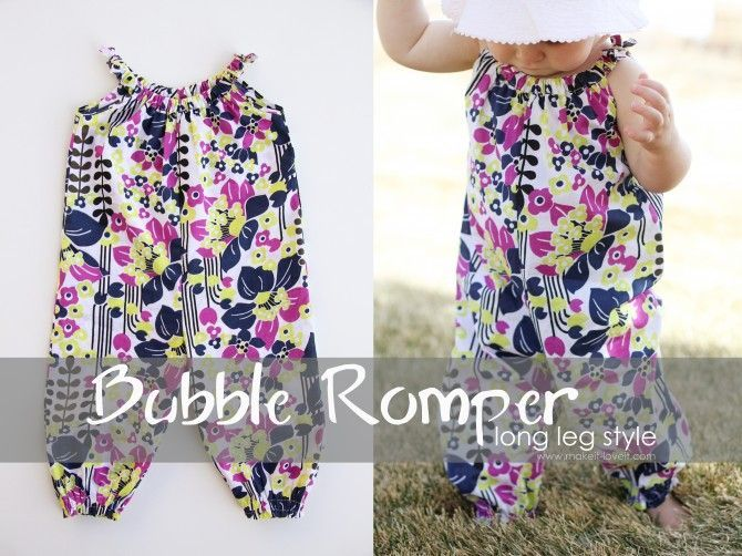 Bubble romper tutorial. This website has a lot of cute and free tutorials for kids clothing.