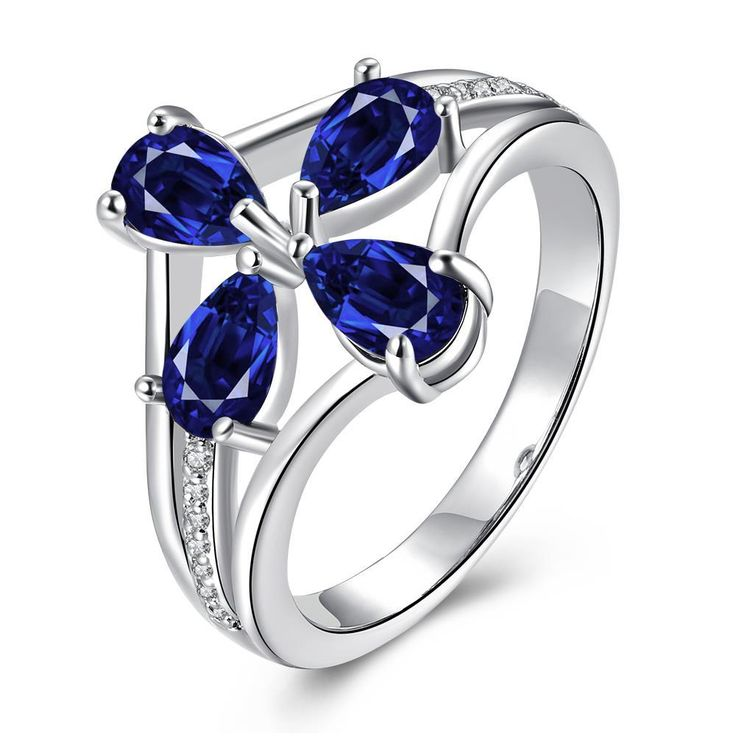 Gold Plated Shaped Gems Ring, Women's