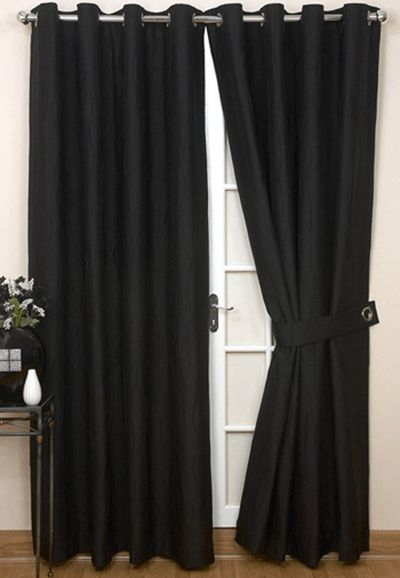 jazz ready made eyelet curtain black room
