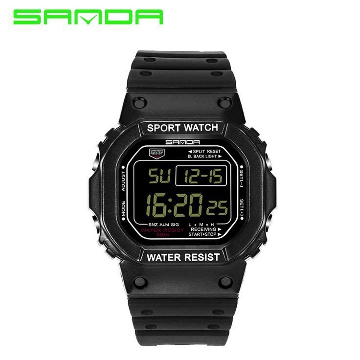 SANDA Led Digital Watches Women Top Brand 30M Waterproof Women's Wrist Watch Students Fashion Casual Sport Watches s Shock