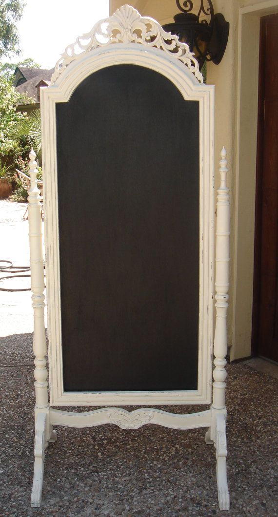 LOVE THIS! I want to do my icebox, repurpose it instead of buying new one! Chalkboard paint, a great idea!
