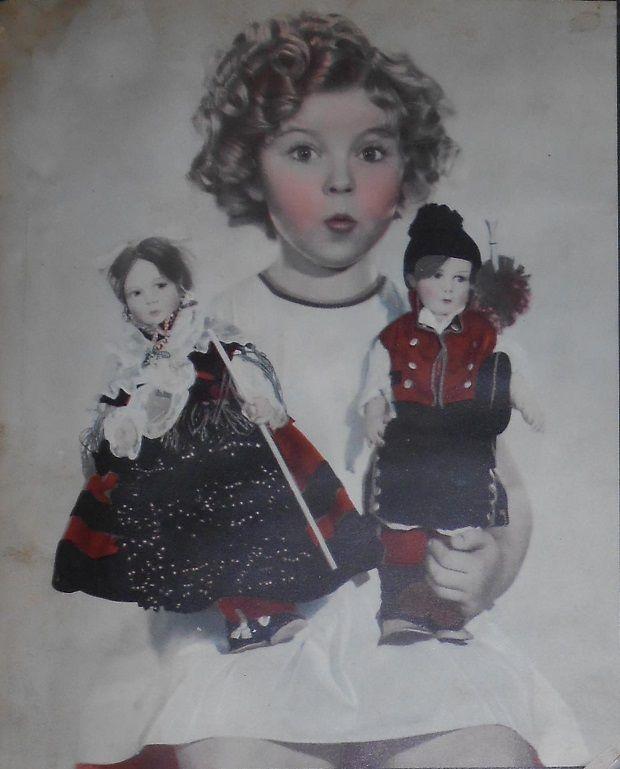 1935 Shirley Temple and 2 dolls from La Coruna, Spain