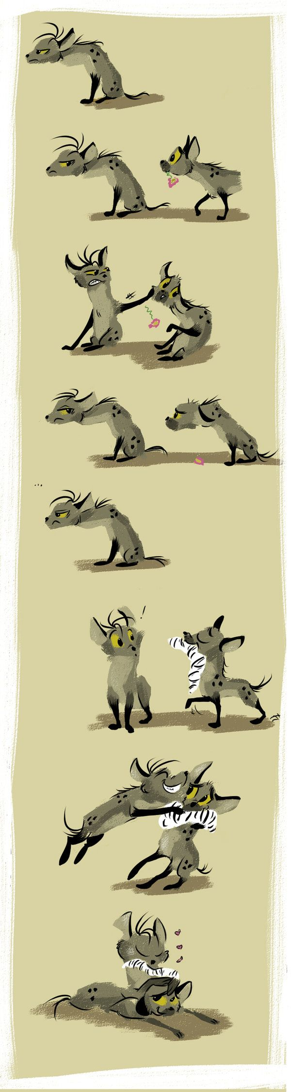 hyena love by ~coffeebandit on deviantART