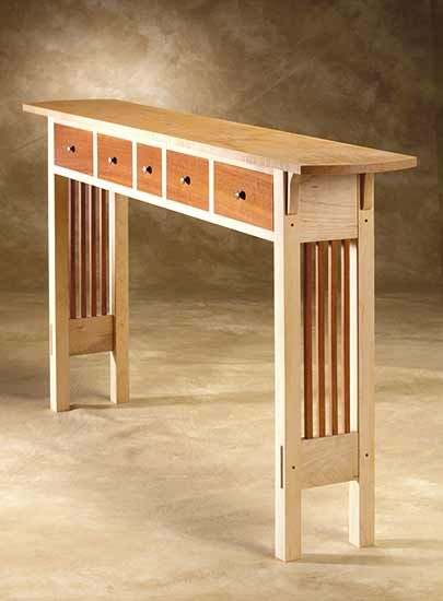Prairie Sofa Table: Chris Horney: Wood Sofa / Hall Table - Artful Home