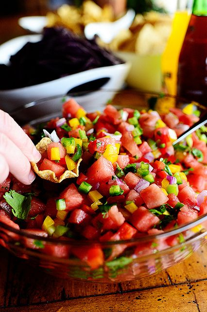 Watermelon Pico de Gallo by Ree Drummond / The Pioneer Woman, via Flickr