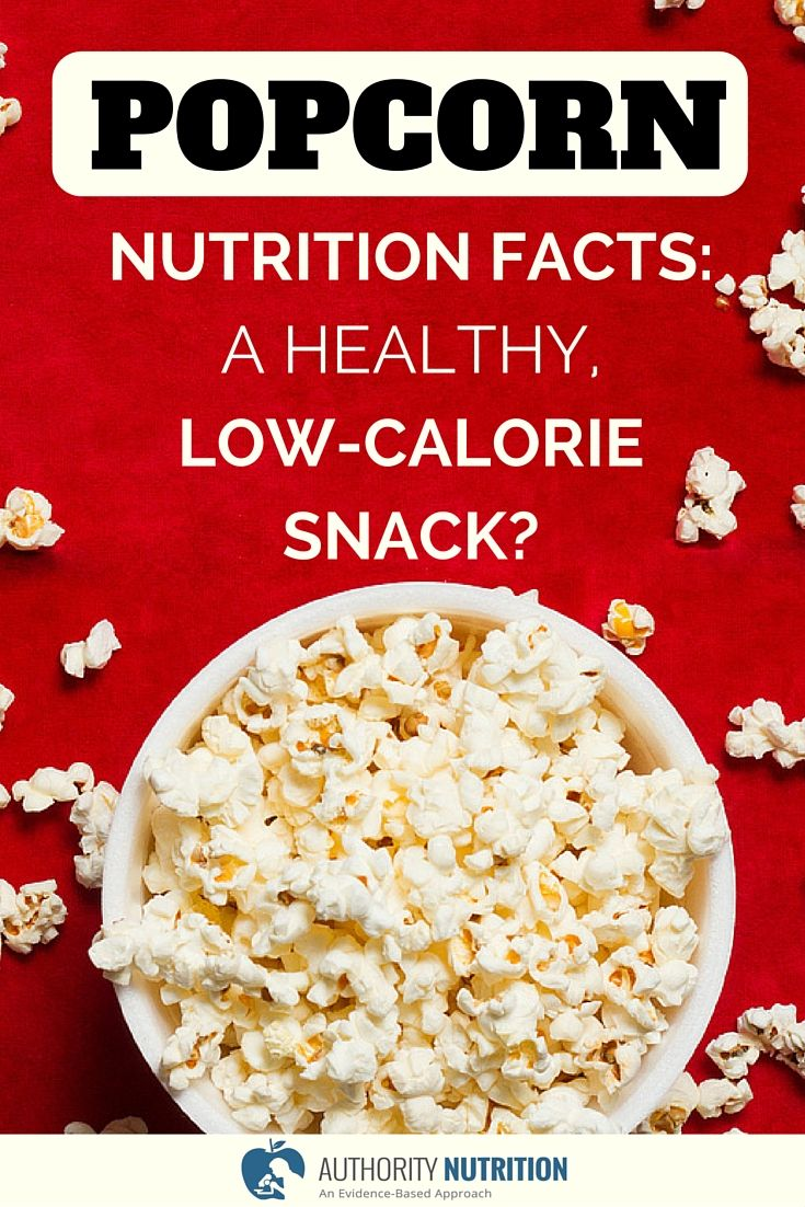 """Popcorn is made from a type of corn that """"pops"""" when heated. Popcorn is a whole grain food that is low in calories and high in nutrients and fiber. Learn more here: https://authoritynutrition.com/popcorn-nutrition-and-health/"""