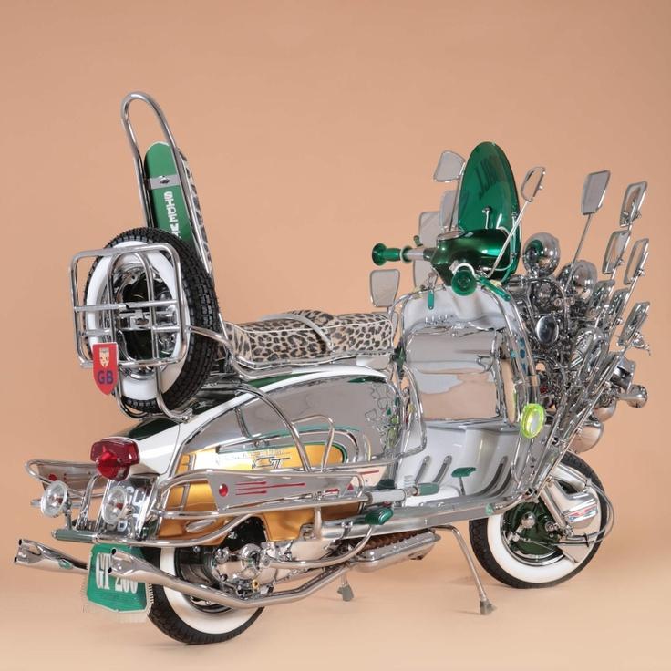 "#Lambretta GT200 ""Speedball"" #mod #scooter"
